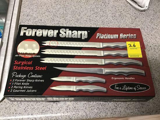 NIB Forever Sharp Knives