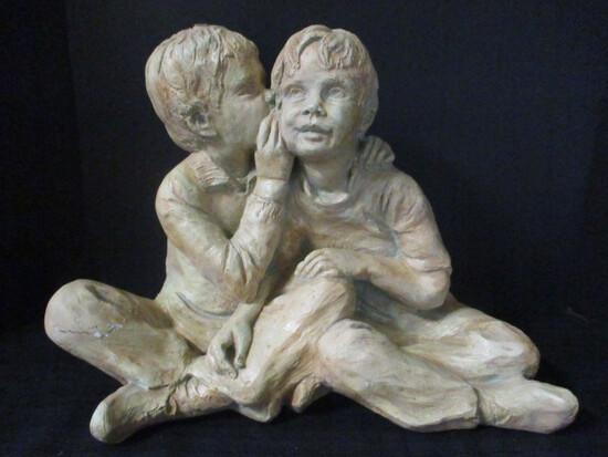 Resin Children Sculpture