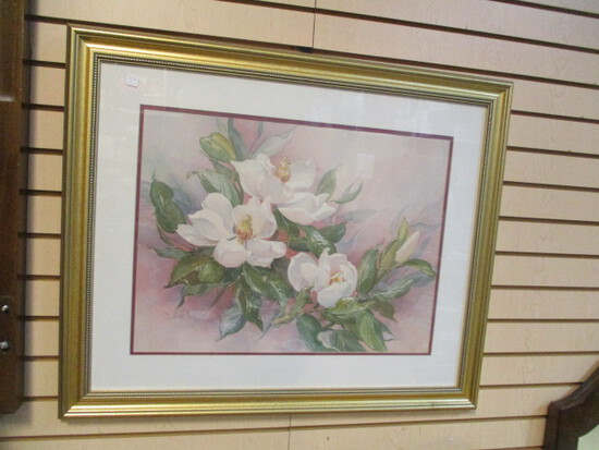 Framed and Matted Magnolia Print by Barbara Mock