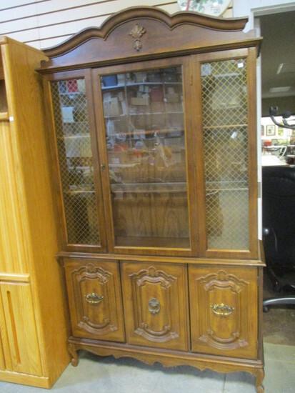 Bernhardt Glass Door Light-Up China Cabinet