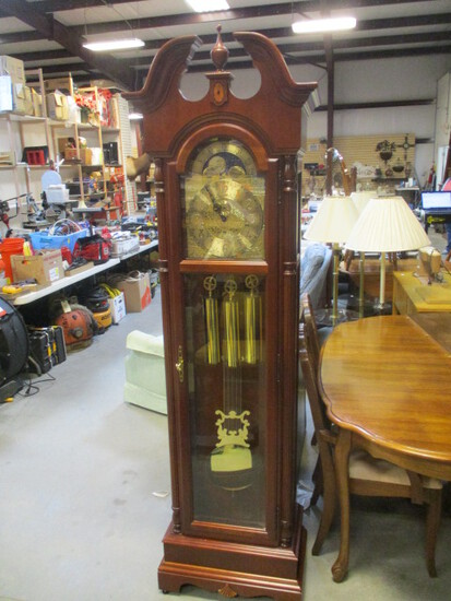 Howard Miller Moon Dial Grandfather Clock with Inlay Designs