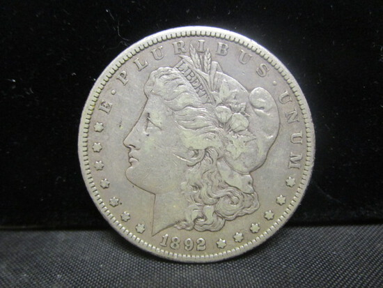 1892CC Morgan Silver Dollar