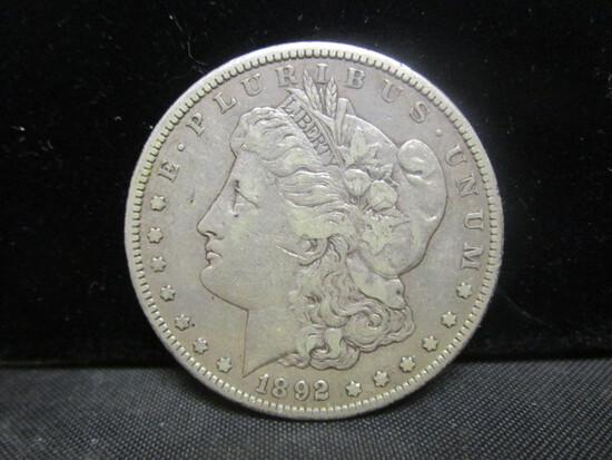 1892CC Morgan Silver Dollar