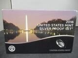 2016 US Mint Silver Proof Set