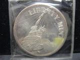 Liberty Mint 1 toz. .999 Fine Silver Round