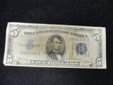 1934A $5 Blue Seal