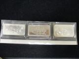 Lot of (3) 1 oz. .999 Pure Silver Bars