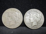 2 Peace Silver Dollars- 1926, 1926S