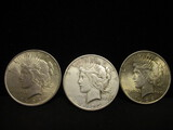 3 Peace Silver Dollars- 1923, 1923S, 1924