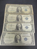 Lot of (4) 1935 $1 Silver Certificate Blue Seals