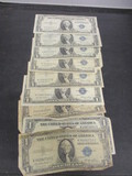 Lot of (10) 1935 $1 Silver Certificate Blue Seals