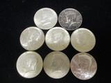 Lot of (8) 1964 Kennedy Half Dollars