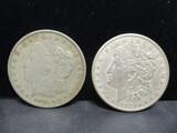 2 Morgan Silver Dollars- 1921, 1921S
