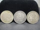 3 Morgan Silver Dollars- 1921