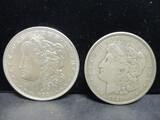 2 Morgan Silver Dollars- 1921