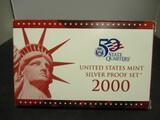 2000 US Mint Silver Proof Set
