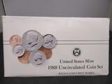 1988 US Mint UNC Coin Set- P&D
