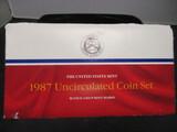 1987 US Mint UNC Coin Set- P&D