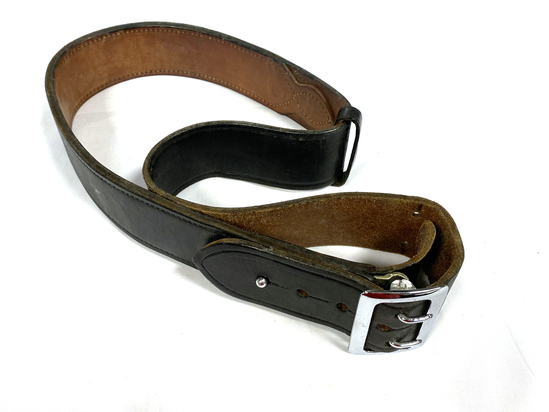USN Bucheimer B1 Black Leather Belt