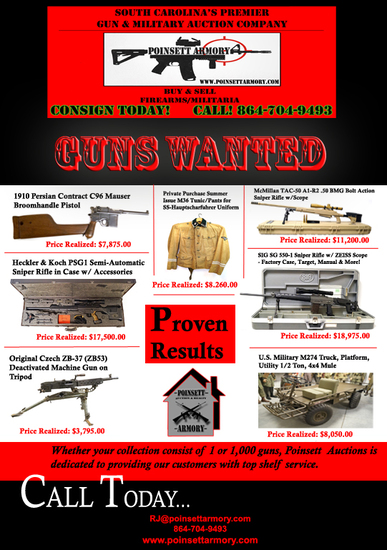 GUNS & MILITARY COLLECTIBLES WANTED