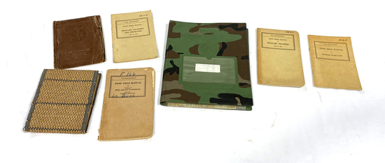US WWII Ration Books, Field Manuals, and Maps