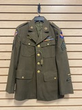 Army Air Force Mechanic Sergeant Jacket with Dog Tags, & Wings