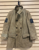 Military Heavy Jacket with Painted over Patches