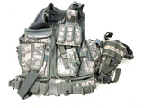 Digital Camouflage Tactical Vest and Holster