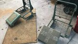 Authentic Original Military Jeep Spring Seats with Seat Cushions - Excellent Condition
