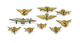 Lot of Winged Wheel Cap Pins with Crown