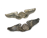 Enlisted USAF Aircrew Wings Pin and Navigator Wings