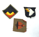 3 Military Patches