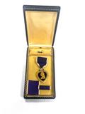 WWII Purple Heart Medal and Ribbon Oak Leaf Cluster in Presentation Case