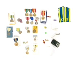 Large Lot of Presented Medals, Ribbons, and Bars