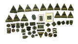 Group of Black/Green Military Patches