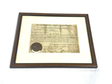 Framed Ex-Confederate Soldier's Certificate