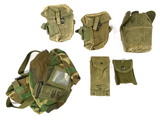 Large Lot of Original US Army Items- Canteen, Ammo Pouches, Bag, More