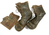 US Army M1943 Infanty Leather Buckle Boots and 1 Leather Cover