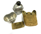 Original WWII US 1942 Canteen and Pouch