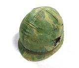 Vietnam Era Paratrooper M1 Helmet with Camouflage Cover & Chinstrap