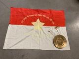 Viet Cong Battle Flag 1964 & Korean Plate