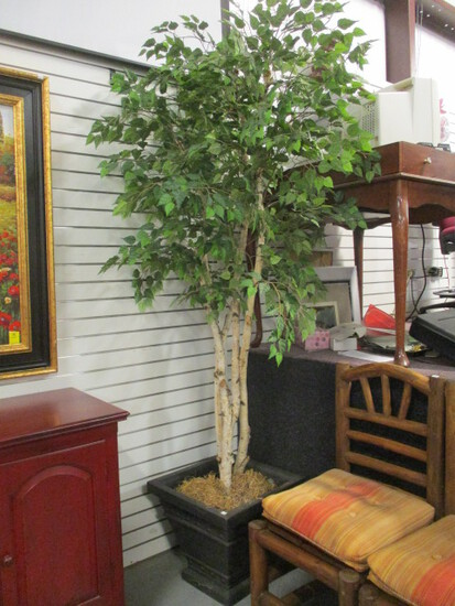Artificial Birch Tree in Heavy Planter