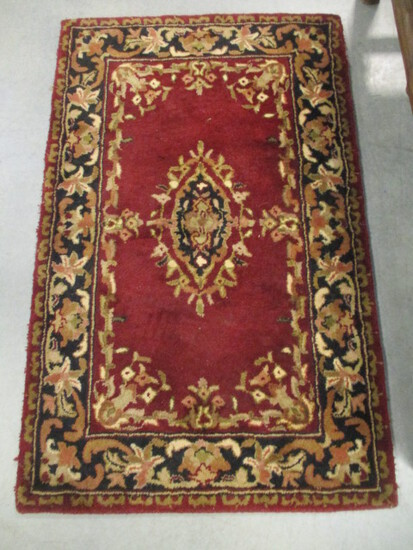 Indian Cottage Hand Made 100% Wool Pile Rug