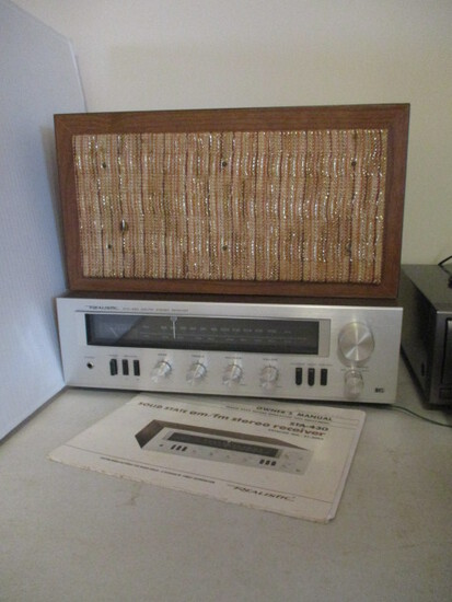 Realistic STA-430 AM/FM Stereo Receiver and Speaker