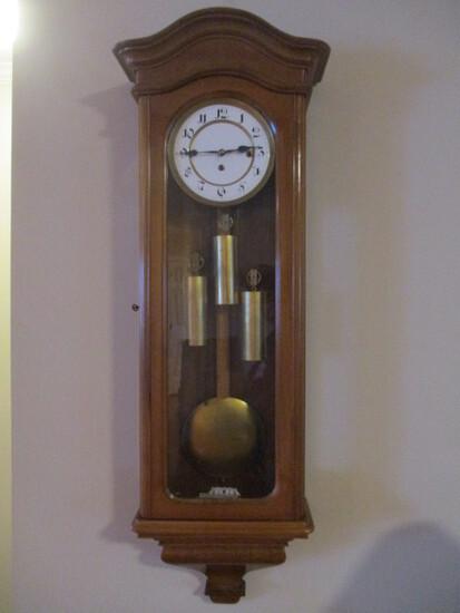 Antique 3 Weight Vienna Regulator Wall Clock