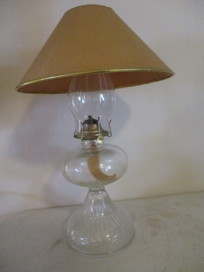 Vintage P&A Oil Lamp with Shade