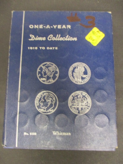One-a-Year Dime Collection Book- 1916-1993