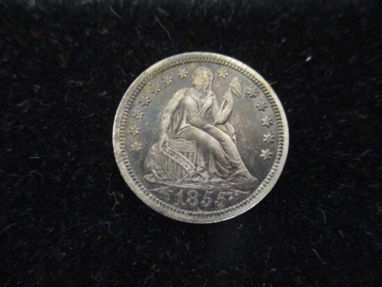 1855 w/ Arrows Liberty Seated Dime