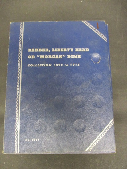 Lot of 24 Barber Dimes in Book