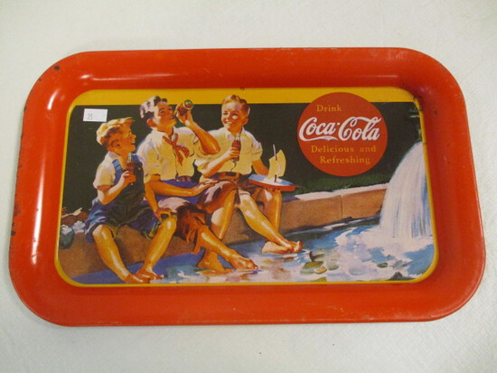 Boys on the Curb 1993 Coca-Cola Metal Tray